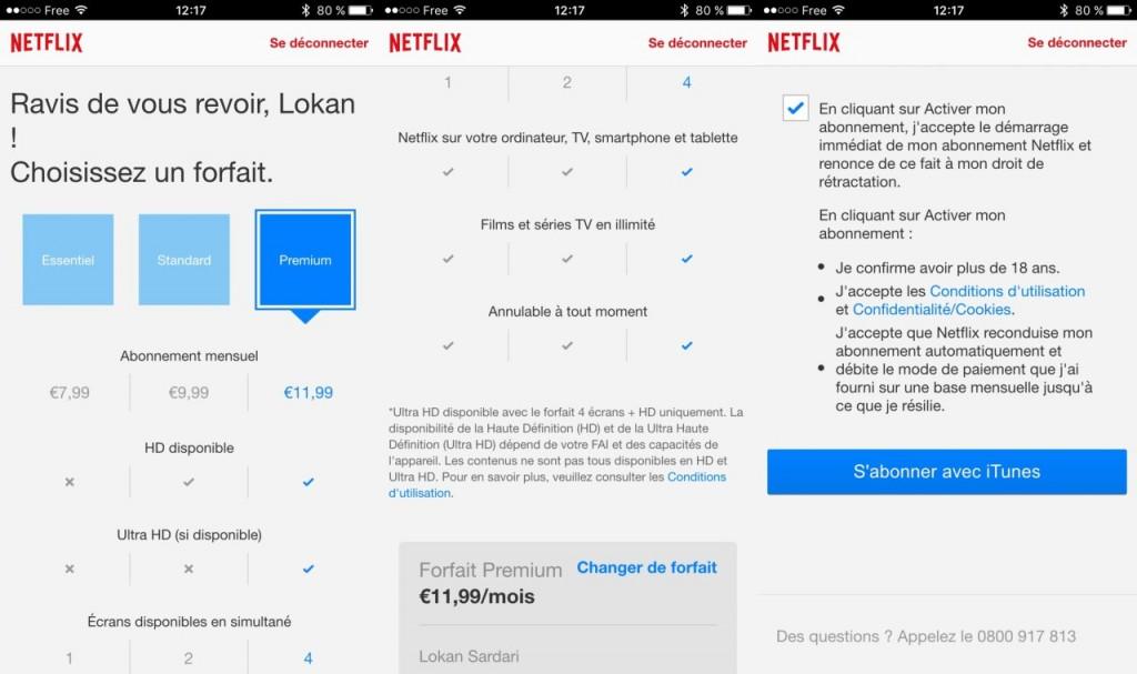 netflix abonnement itunes iphone 1280x759 1024x607 20 % de réduction sur votre abonnement Netflix avec iTunes