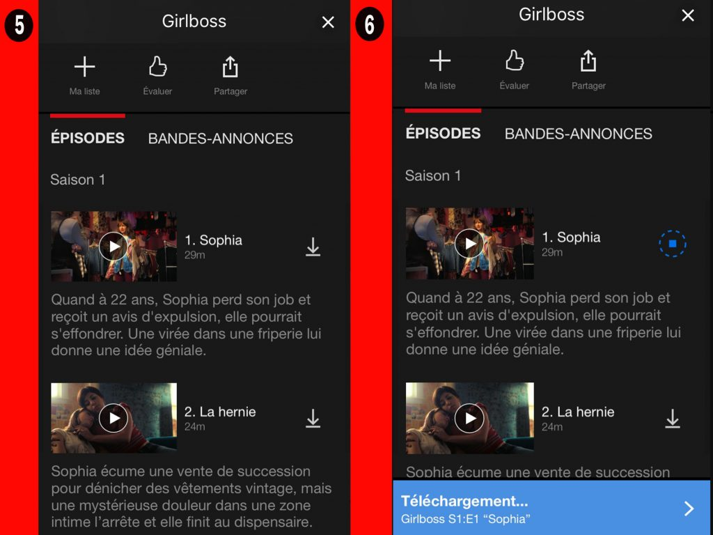netflix regarder hors ligne3 1024x768 - Regarder vos vidéos Netflix en mode Hors ligne