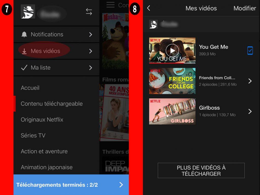 netflix regarder hors ligne4 1024x768 Regarder vos vidéos Netflix en mode Hors ligne