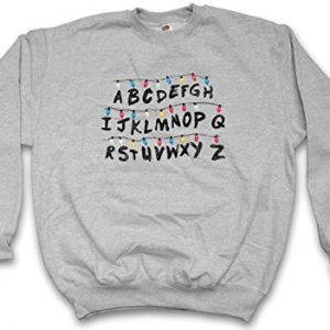 STRANGER-THINGS-ALPHABET-SWEATSHIRT–Lettre-Lights-guirlande-lumineuse-Series-Ghost-World-Hell-Letters-Monster-Tailles-S–3XL-0