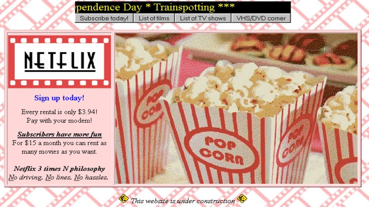 Streaming Netflix movies in 1995