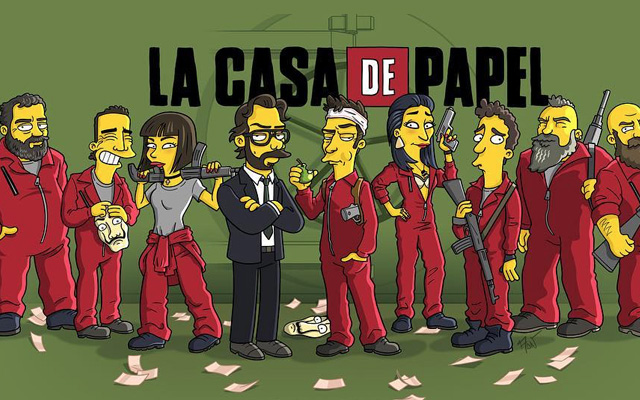 Fan Art : La Casa de Papel à la sauce Simpson