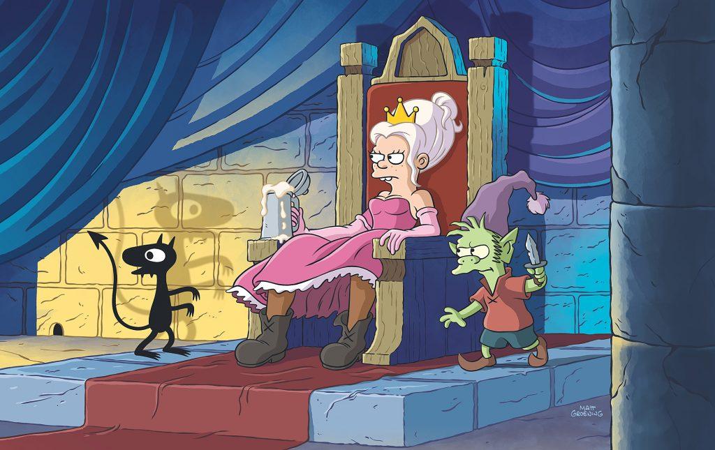 """disenchantment netflix 3 1024x645 - """"Ouh Pinaise !"""" la nouvelle série du créateur des Simpsons se révèle en images"""