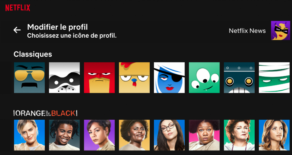 Capture d'écran 2018 07 26 à 15.56.40 1024x544 Une galerie davatars inspirés des séries Netflix pour des profils plus funs !