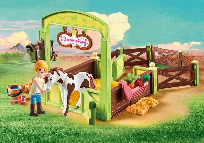 Abigaëlle et Boomerang avec box - Une nouvelle gamme Playmobil inspirée de Spirit : au galop en toute liberté