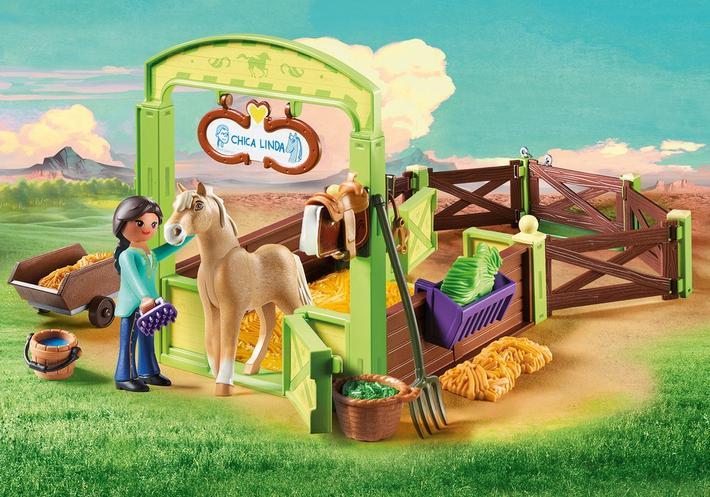 Une nouvelle gamme Playmobil inspirée de Spirit : au galop en toute liberté