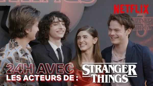24H À PARIS AVEC LES ACTEURS DE STRANGER THINGS