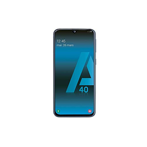 SAMSUNG-Galaxy-A40-Smartphone-Portable-dbloqu-4G-Ecran-5-9-Pouces-64-Go-Double-Nano-SIM-Android-Noir-Version-Franaise-0