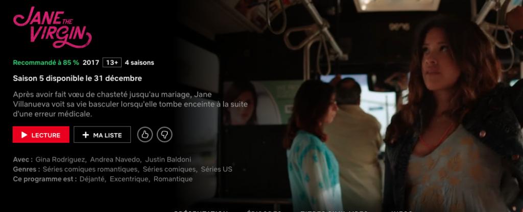 Capture d'écran 2019 12 17 à 20.50.24 1024x416 - La saison 5 de Jane The Virgin sortira le 31 décembre sur Netflix