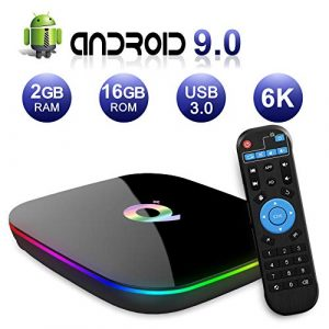 Android-TV-Box-Q-Plus-TV-Box-Android-90-with-2Go-RAM-16Go-ROM-H6-Quad-Core-cortex-A53-Processor-Smart-TV-Box-Supports-6K-Resolution-3D-24GHz-WiFi-10100M-Ethernet-USB-30-Media-Player-0