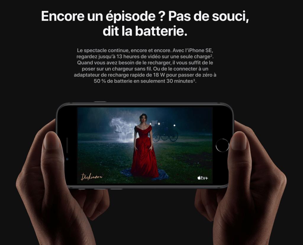 capture decran 2020 04 16 a 17 02 30 1024x827 - L'iPhone SE (2nde génération) vient de sortir, et il est taillé pour Netflix !