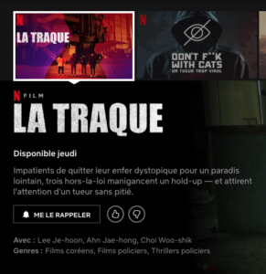 capture decran 2020 04 20 a 21 40 18 291x300 - La traque : le film dystopique sortira finalement jeudi sur Netflix
