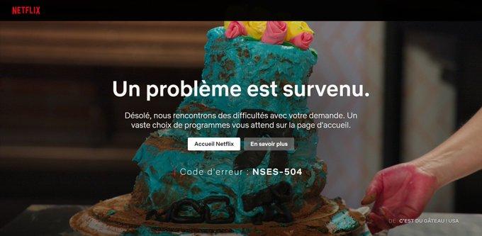 Que faire si le code d'erreur NSES-504 ou  NSES-500 apparait sur Netflix ?