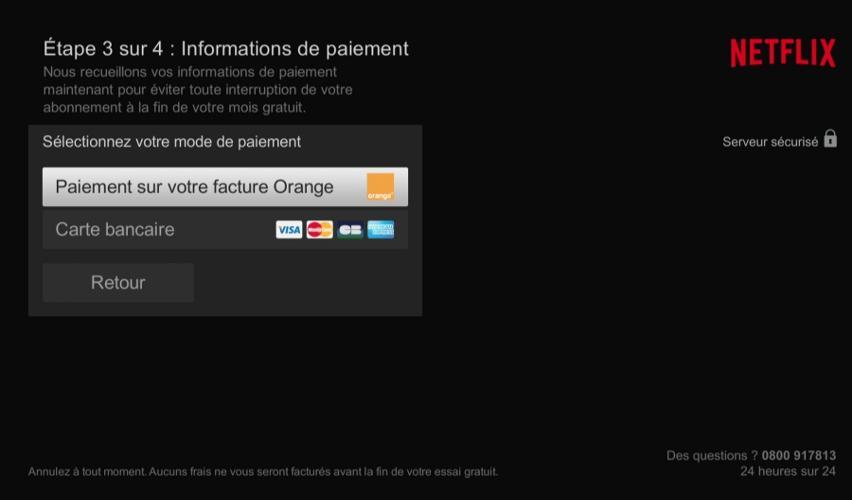 tv orange livebox play menu pass video netflix informations paiement full view image - S'abonner à Netflix avec Orange, tout savoir sur les offres
