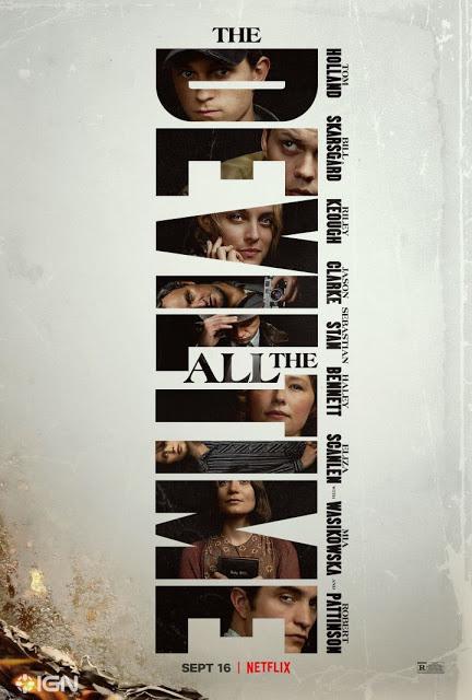 affiche le diable tout le temps - Le diable, tout le temps : casting grandiose et premières images pour ce thriller horrifique attendu pour septembre sur Netflix