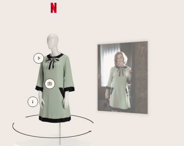 capture decran 2020 11 02 a 214905 - The Crown et Le Jeu de la dame : découvrez gratuitement l'exposition virtuelle des costumes des deux séries d'époque !