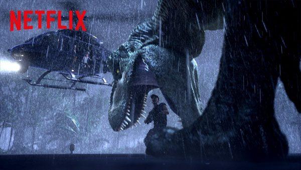 t rex chopper chase jurassic world camp cretaceous netflix futures youtube thumbnail 600x338 - The Rain
