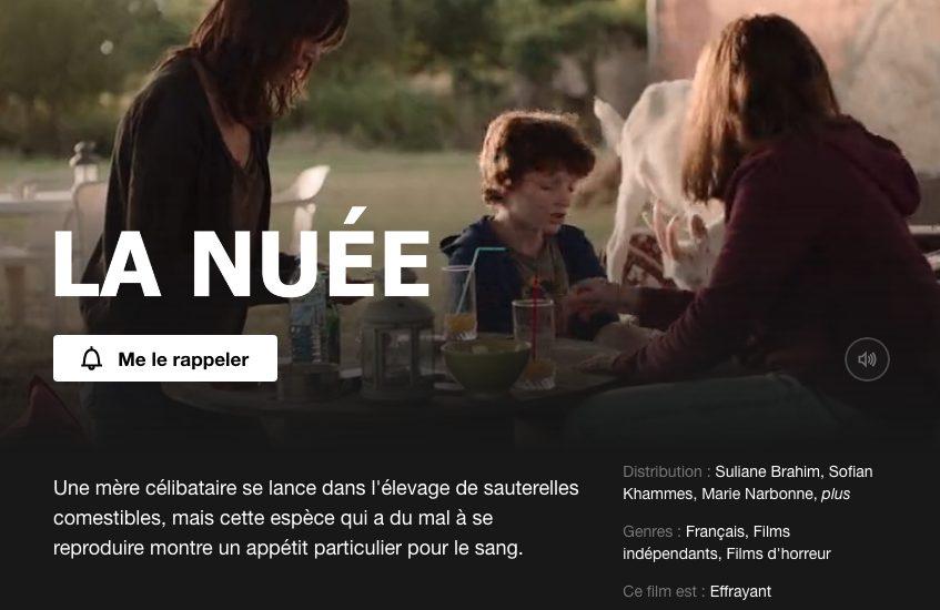 Capture décran 2021 08 07 à 11.52.00 - La Nuée : le film d'horreur français arrivera prochainement sur Netflix