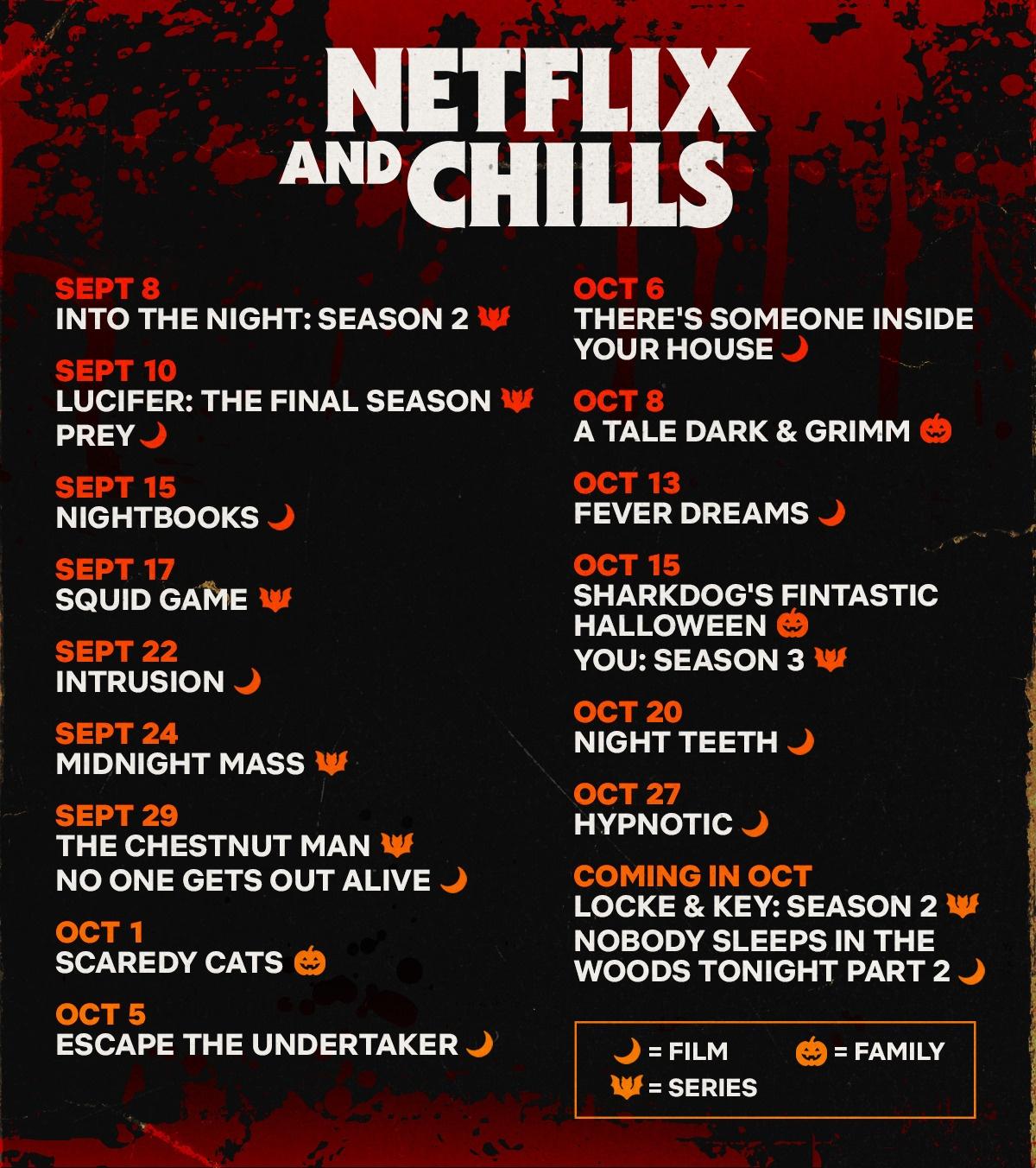 Netflix Chills  - Netflix and Chills : ce que Netflix vous réserve pour Halloween (Sorties Septembre et Octobre 2021)